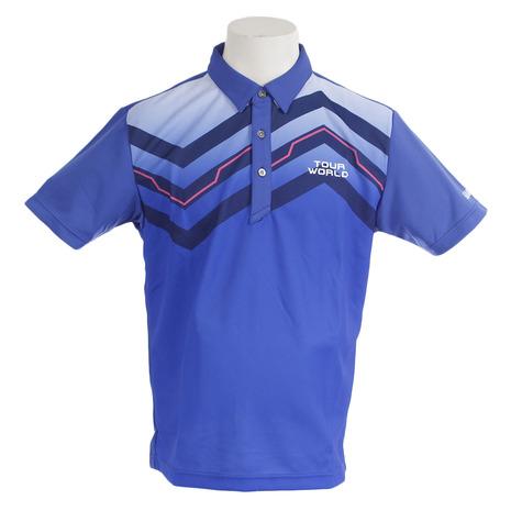 ホンマゴルフ(HONMA) シンメトリープリントシャツ 731-419102 BL (Men's)
