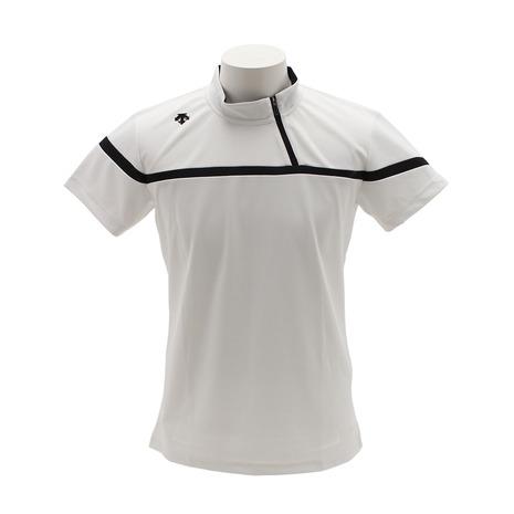 デサントゴルフ(DESCENTEGOLF) アシンメトリー ジップデザイン 半袖シャツ DGMLJA29-WH00 (Men's)