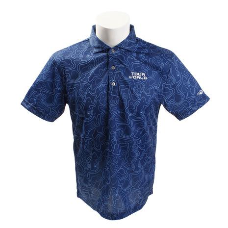 ホンマゴルフ(HONMA) ゴルフコースプリントシャツ 831-419101 BLメンズ 半袖 (Men's)
