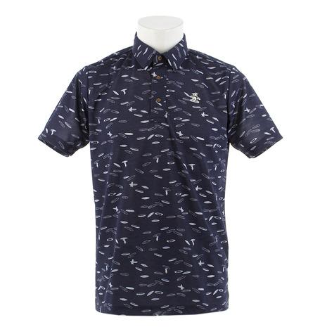 マンシングウエア(MUNSING WEAR) ゴルフウェア メンズ サーフプリント半袖シャツ MGMNJA14-NV00 (Men's)