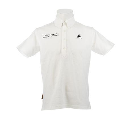 【8/5限定!エントリーでP10倍~】ルコック スポルティフ(Lecoq Sportif) ゴルフウェア 【TRICO Club.】ベーシックボタンダウンポロシャツ QGMNJA01-WH00 (Men's)