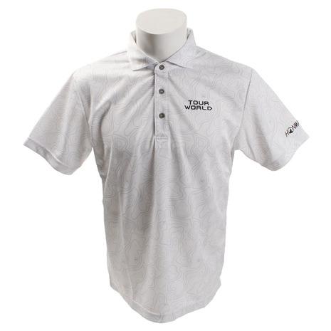ホンマゴルフ(HONMA) ゴルフコースプリントシャツ 831-419101 WHメンズ 半袖 (Men's)