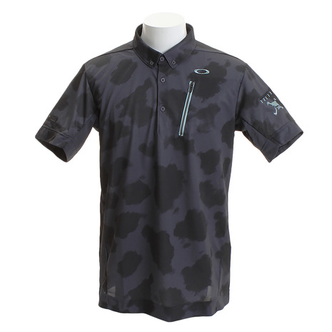 【ポイント最大29倍!0のつく日限定!エントリー要】オークリー(OAKLEY) ゴルフ ウエア ポロシャツ メンズ メンズ SKULL MOTTLE シャツ 434390JP-25C (Men's)