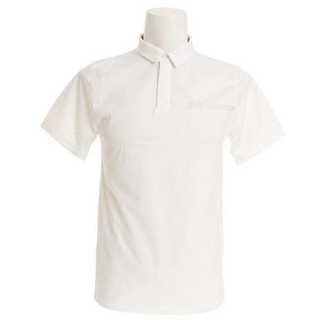 アンダーアーマー(UNDER ARMOUR) パーペチュアルウーブンポロシャツ #1306301 WHT/OVC/OVC GOメンズ 半袖 (Men's)