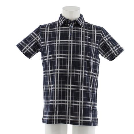 フィドラ(FIDRA) チェック 半袖ポロシャツ FDA0315-NVY (Men's)