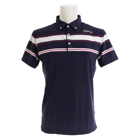 タイトリスト(TITLEIST) ゴルフウェア メンズ メンズ ボーダースムースシャツ (Men's) TSMC1909NV TSMC1909NV (Men's), ブランド古着の買取販売ベクトル:1ae31e55 --- sunward.msk.ru