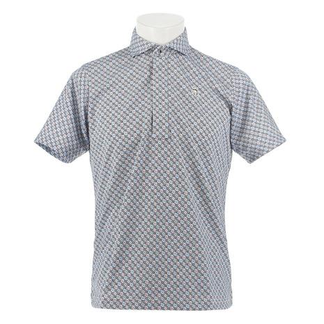 マンシングウエア(MUNSING WEAR) ゴルフウェア メンズ ドットチェックサンスクリーン半袖シャツ MGMNJA18-NV00 (Men's)