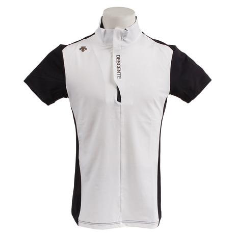 デサントゴルフ(DESCENTEGOLF) ゴルフウェア メンズ ラボパターン ジップスタンド ショートスリーブシャツ (Men's)