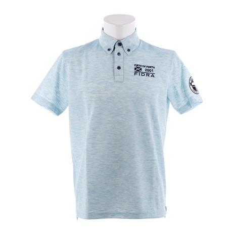 【ポイント最大29倍!0のつく日限定!エントリー要】フィドラ(FIDRA) ゴルフ ポロシャツ メンズ ウェア 半袖ボタンダウンポロシャツ FDA0316-TQG (Men's)