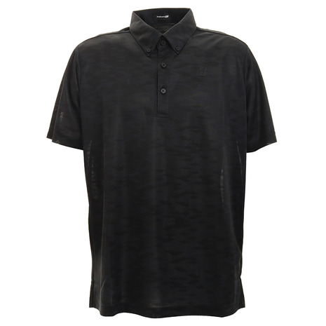 【ポイント最大24倍!0のつく日限定!エントリー要】ブリヂストンゴルフ(BRIDGESTONE GOLF) ポロシャツ メンズ 半袖ボタンダウンシャツ RGM03ABK (Men's)