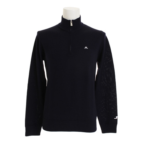 Jリンドバーグ(J.LINDEBERG) Kian Merino Sweater TourZippper 071-18010-098 (Men's)