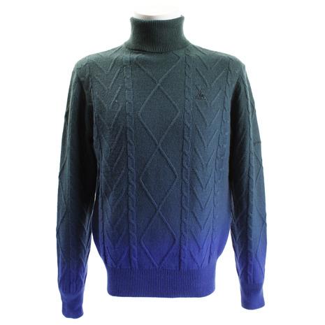 ルコック スポルティフ(Lecoq Sportif) 製品染めグラデーションハイネックセーター QGMMJL07-BL00 (Men's)