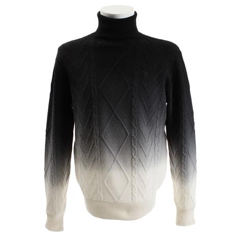 ルコック スポルティフ(Lecoq Sportif) 製品染めグラデーションハイネックセーター QGMMJL07-WH00 (Men's)
