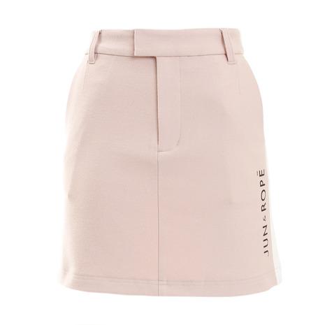 ジュンアンドロぺ(JUN&ROPE) ゴルフウェア レディース 保温 両面起毛ロゴ入り配色スカート ERC5826-63 (Lady's)