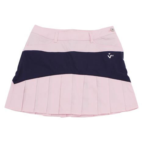 【8/5限定!エントリーでP10倍~】ビバハート(VIVA HEART) ゴルフウェア レディース 裾プリーツスカート 012-79441-072 (Lady's)
