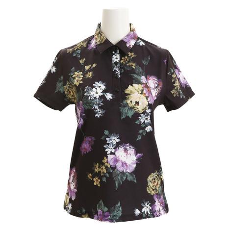 リエンダ スエルタ(rienda suelta) 半袖ポロシャツ Vintage Flower  RS-90106041-BLK(レディース) (Lady's)