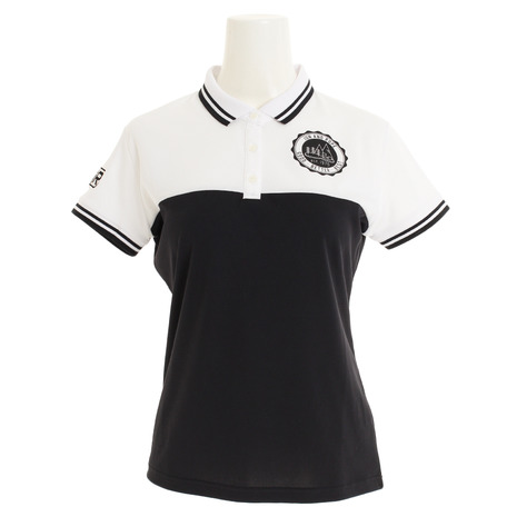 ジュンアンドロぺ(JUN&ROPE) ゴルフウェア レディース カラーブロック半袖ポロシャツ ERM29020-10 (Lady's)