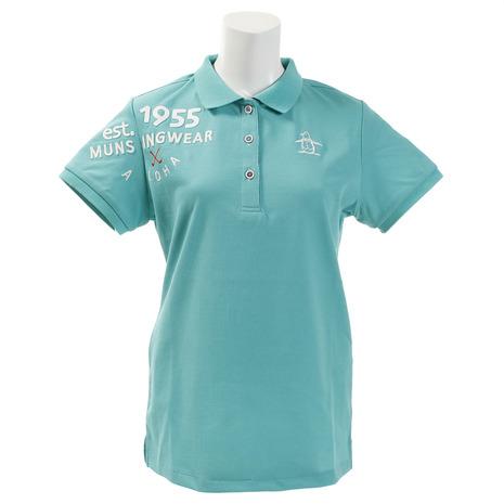 マンシングウエア(MUNSING WEAR) ゴルフウェア 1955ロゴ刺しゅう デュアルコンフォート半袖シャツ MGWNJA21-EM00 (Lady's)