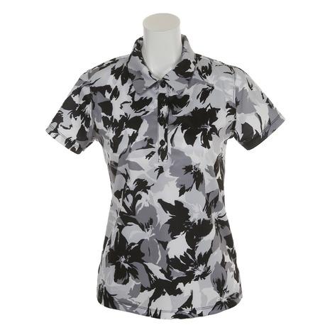 リエンダ スエルタ(rienda suelta) 半袖ポロシャツ サマーフラワー2 シャツ RS-00206201-BK(レディース) (Lady's)