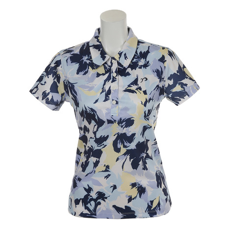 リエンダ スエルタ(rienda suelta) 半袖ポロシャツ サマーフラワー2 シャツ RS-00206201-BL(レディース) (Lady's)