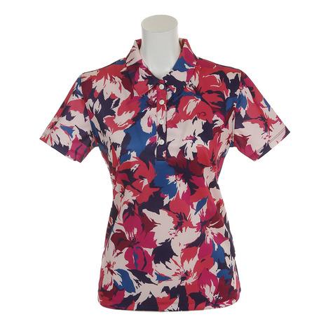 リエンダ スエルタ(rienda suelta) 半袖ポロシャツ サマーフラワー2 シャツ RS-00206201-RE(レディース) (Lady's)