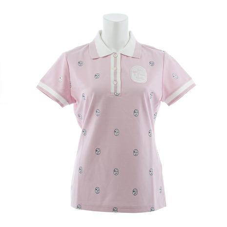ジュンアンドロぺ(JUN&ROPE) ゴルフウェア レディース 半袖ポロシャツ ワッペン柄プリント ERM3800-63 (Lady's)