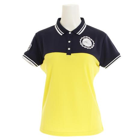 ジュンアンドロぺ(JUN&ROPE) ゴルフウェア レディース カラーブロック半袖ポロシャツ ERM29020-40 (Lady's)