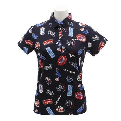 ビバハート(VIVA HEART) ゴルフウェア レディース マルチサーカスポロシャツ 012-29443-098 (Lady's)