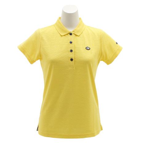 フィドラ(FIDRA) ゴルフウェア レディース ジャガードポロシャツ FI51UG07 YEL (Lady's)