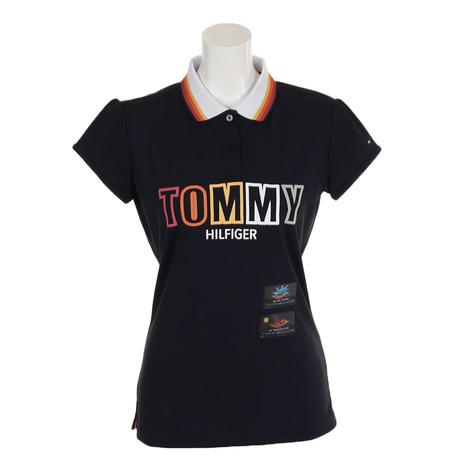 トミーヒルフィガー(TOMMY HILFIGER) ゴルフウェア レディース S/S ポロシャツ THLA936-NVY (Lady's)