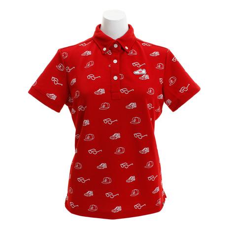 ニューバランス(new balance) ゴルフウェア レディース アイコンモチーフ ボタンダウンポロシャツ 012-8268502-100 (Lady's)