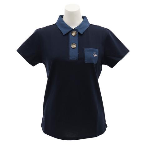 ビバハート(VIVA ゴルフウェア HEART) 半袖ポロシャツ ゴルフウェア レディース 半袖ポロシャツ HEART) 012-29541-098 (Lady's), エプロンショップ Qハウス:caed800c --- sunward.msk.ru