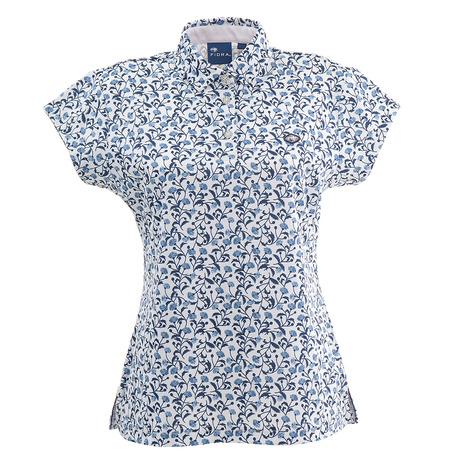 【ポイント最大29倍!0のつく日限定!エントリー要】フィドラ(FIDRA) ゴルフ ポロシャツ レディース フラワーポロシャツ FD5HUP50 WHT (Lady's)