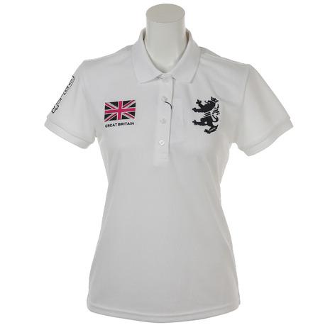 アドミラル(Admiral) ゴルフウェア レディース 半袖ポロシャツ フラッグ   ADLA834-WHT (Lady's)