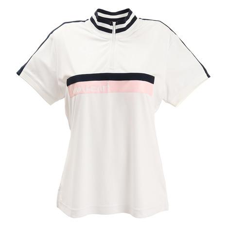 ビバハート(VIVA HEART) 半袖ポロシャツ DRYジャージ ハーフジップ半袖シャツ 012-28842-004(レディース) (Lady's)