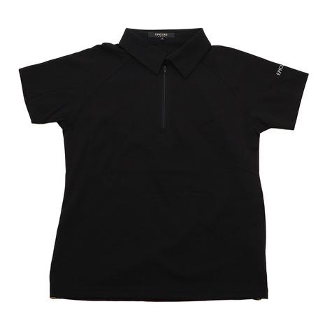 エピキュール(epicure) ゴルフウエア レディース 鹿の子 ハーフジップシャツ EN37HG10 BLK (Lady's)
