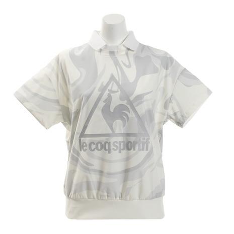 ルコック スポルティフ(Lecoq Sportif) ゴルフウェア 2WAYマーブルプリントポロシャツ QGWNJA21-WH00 (Lady's)