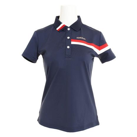 アドミラル(Admiral) ゴルフウェア (Lady's) ゴルフウェア レディース トリコロール襟 ポロシャツ ADLA906-NVY ADLA906-NVY (Lady's), 坂町:6c39225d --- sunward.msk.ru