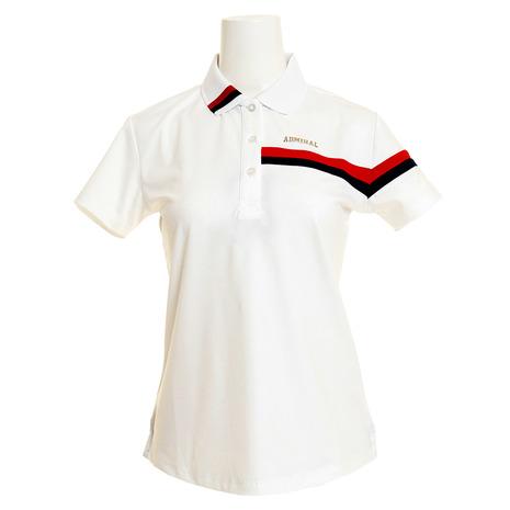 【8/5限定!エントリーでP10倍~】アドミラル(Admiral) ゴルフウェア レディース トリコロール襟 ポロシャツ ADLA906-WHT (Lady's)