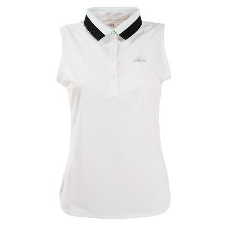店内全品ポイント+10倍以上!23~25日エントリー要アディダス(adidas) ゴルフ ポロシャツ レディース ジャカードロゴ ノースリーブポロシャツ GLD46-FJ4364W (Lady's)