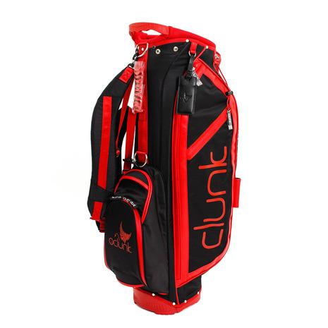 クランク(CLUNK) ゴルフ キャディバッグ メンズ [オンライン価格]軽量ナイロン 8.0 BCLA1201 BK/RD (Men's)