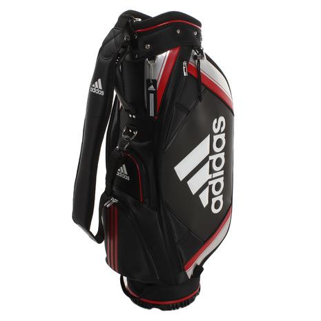 アディダス(adidas) ゴルフ キャディバッグ メンズ ベーシック XA227-CL0600BK/R 付属品:JR (Men's)