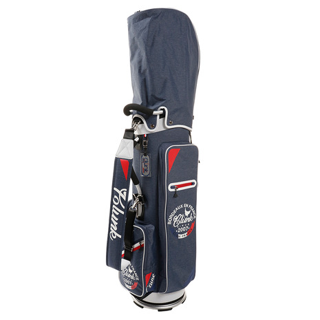 クランク(CLUNK) 【Volvikボール付】ゴルフ キャディバッグ メンズ 9型 パイプキャディバッグ CL5HNC02 NVY 付属品:JR (Men's)