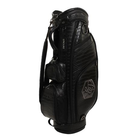エピキュール(epicure) ゴルフ キャディバッグ メンズ クロコフェイクレザー 9.5 BEPA1255 BLK (Men's)