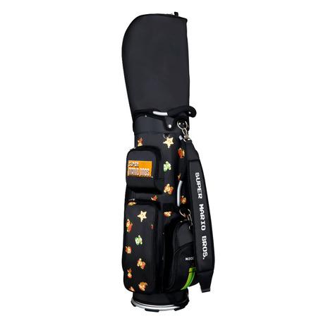 ホクシン ゴルフ コンペ メンズ マリオキャディバッグ SMCB002R マリオCB BK (Men's)