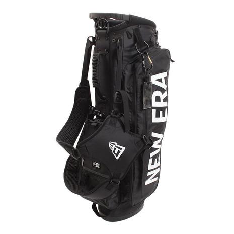ニューエラ(NEW ERA) キャディバッグ メンズ スタンド式 ブラック ホワイトプリントロゴ 11901502 (Men's)
