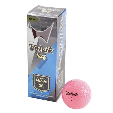 ボルビック(Volvik) ゴルフボール S4 ピンク 3個入り (Men's)