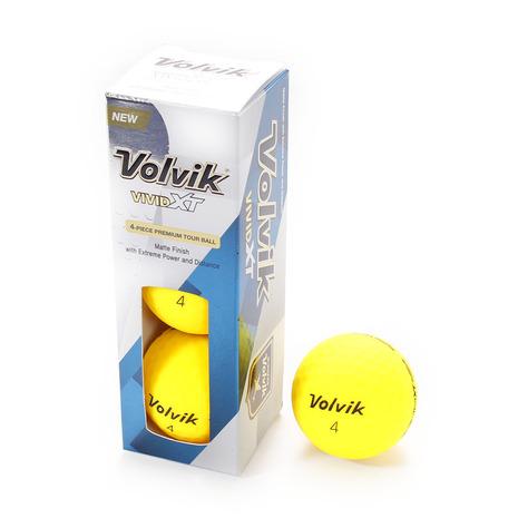 ボルビック(Volvik) ゴルフボール VIVID XT YEL 3ケ (Men's)