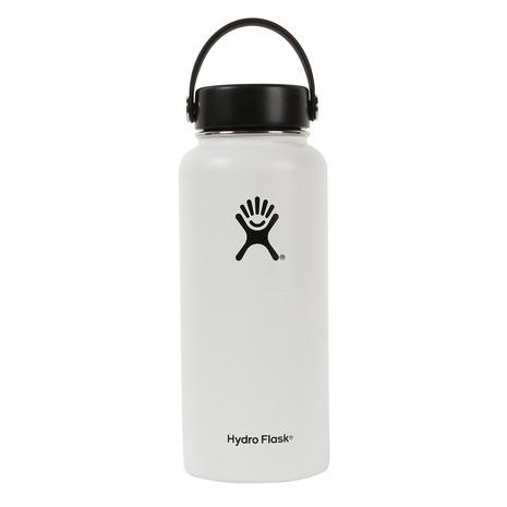 HydroFlask 32oz ワイド ステンレスボトル 5089025-01White (Men's、Lady's)