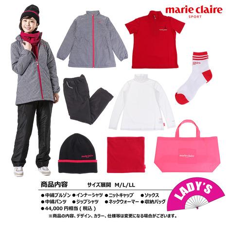 マリ・クレール スポール(marie claire sport) 2021年新春福袋 マリ・クレール ゴルフ レディース8点セット 730100 -BK (レディース)
